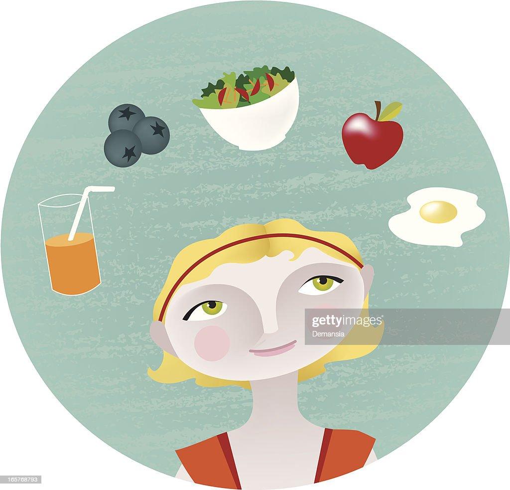 Healthy Choice : stock illustration