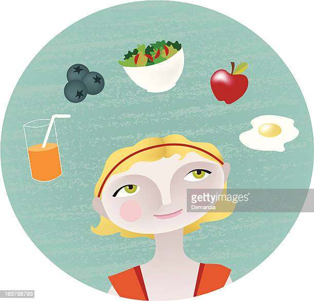 healthy choice - dieting stock illustrations, clip art, cartoons, & icons