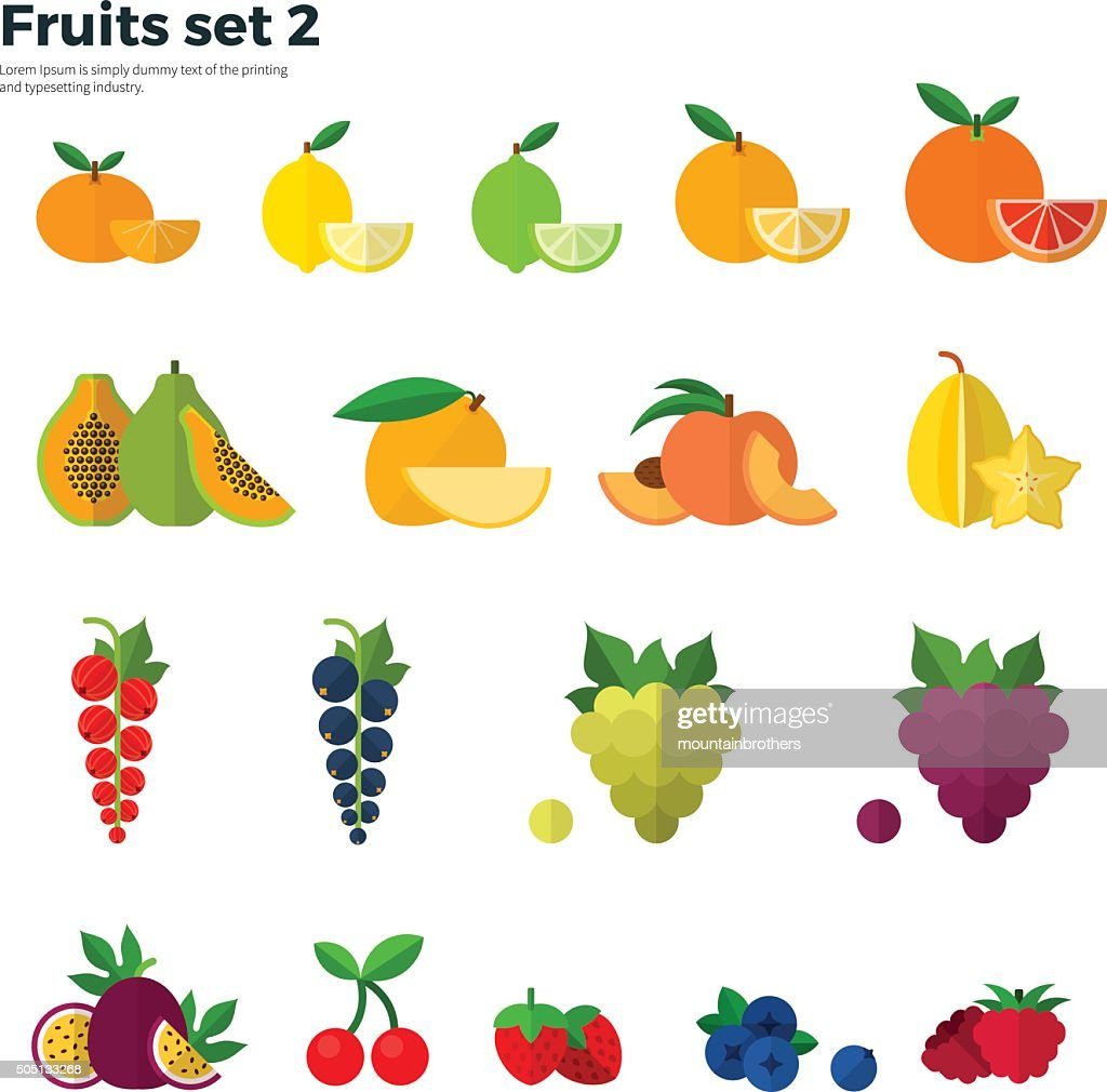 Healthy Concept Tropical Fruit on White Background