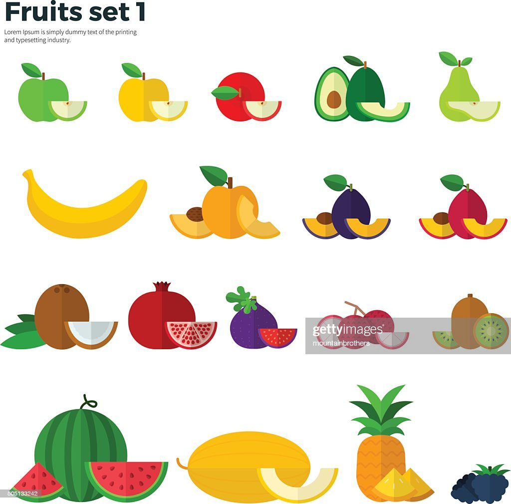Healthy Eating Concept. Fruit and Slices on White