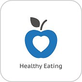 Healthy Eating Icon. Flat Design.