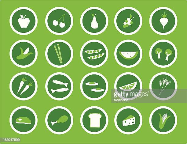 healthy eating icons - antioxidant stock illustrations, clip art, cartoons, & icons