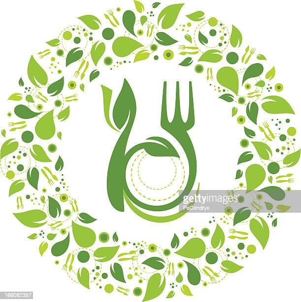Healthy eating symbol garland
