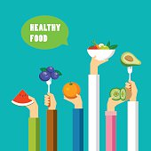 healthy food concept flat design