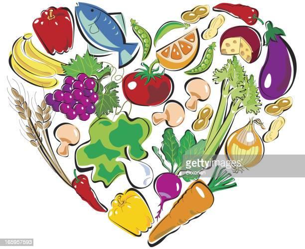 ilustrações, clipart, desenhos animados e ícones de alimentos coração saudável - bok choy