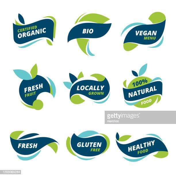 健康食品ラベル - 生点のイラスト素材/クリップアート素材/マンガ素材/アイコン素材