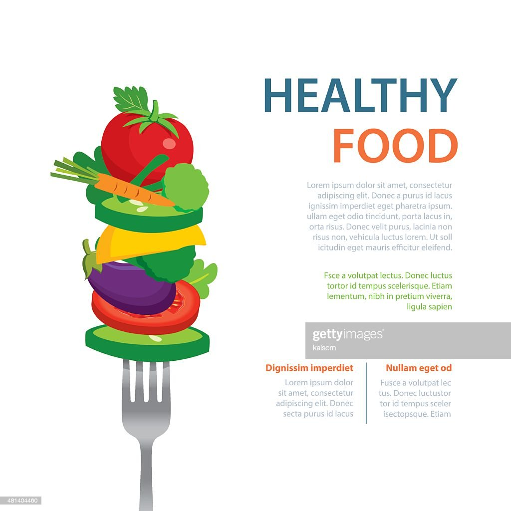 healthy food on the fork  diet concept fruits and vegetables
