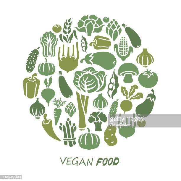 healthy food - vegetable stock illustrations