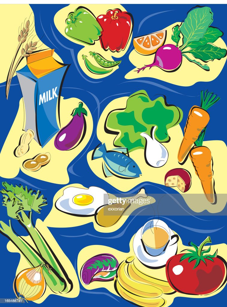Healthy Food : stock illustration