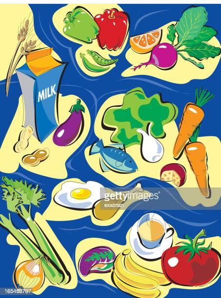 healthy food - bok choy stock illustrations, clip art, cartoons, & icons