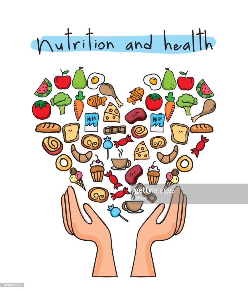 healthy food : Vector Art