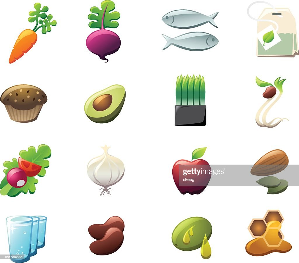 Healthy Foods Icons