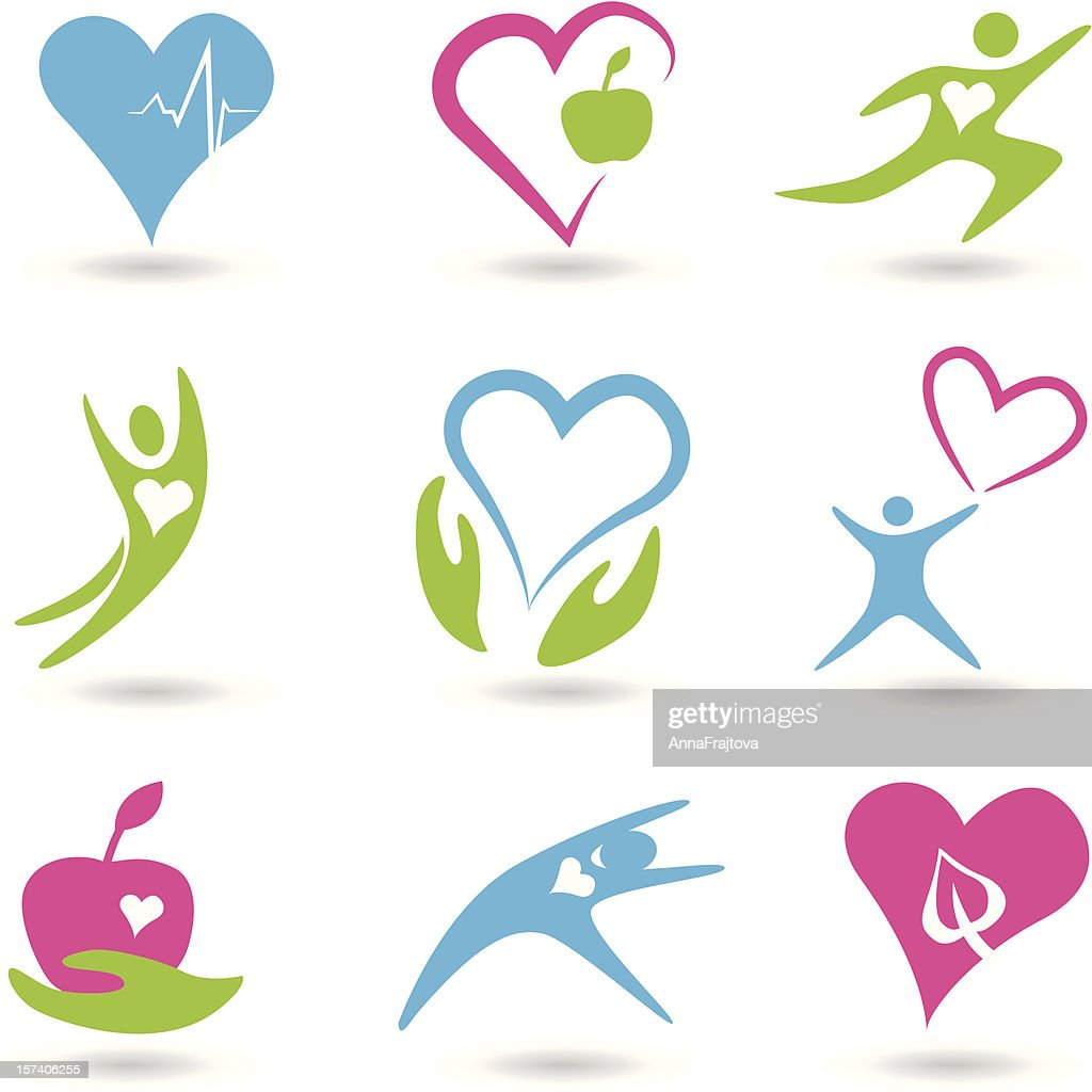 Healthy hearts icons