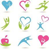 Healthy hearts icons