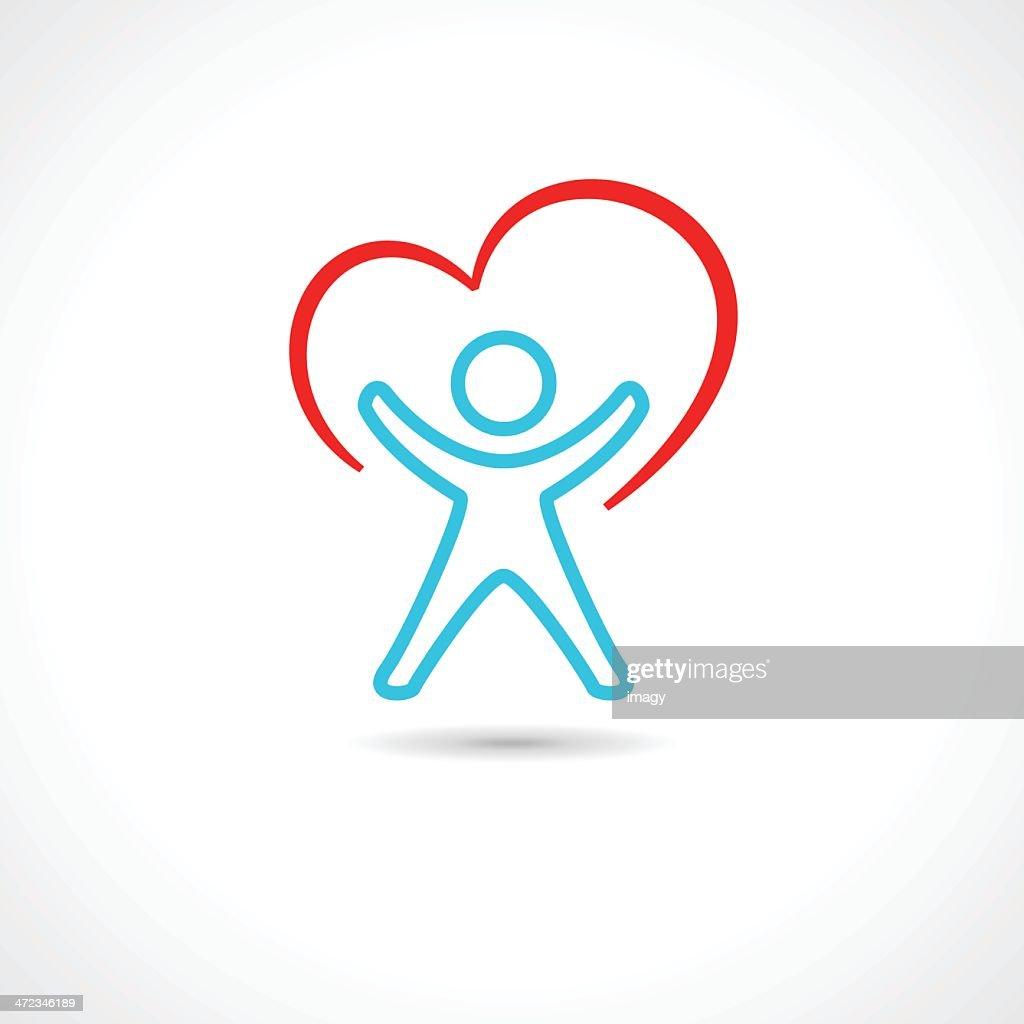 Healthy human icon