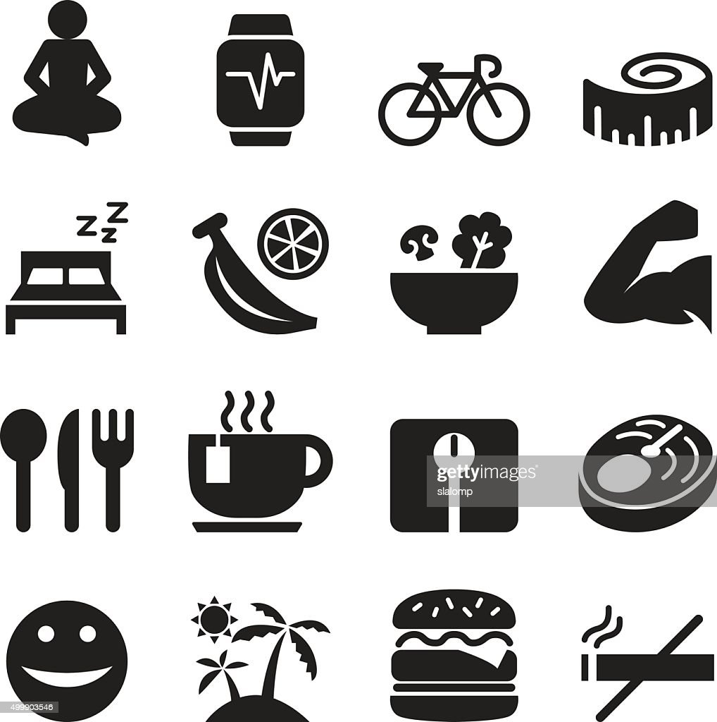 Healthy icons set Vector illustration