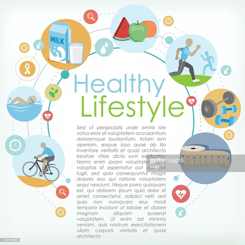 Healthy life copyspace : stock illustration