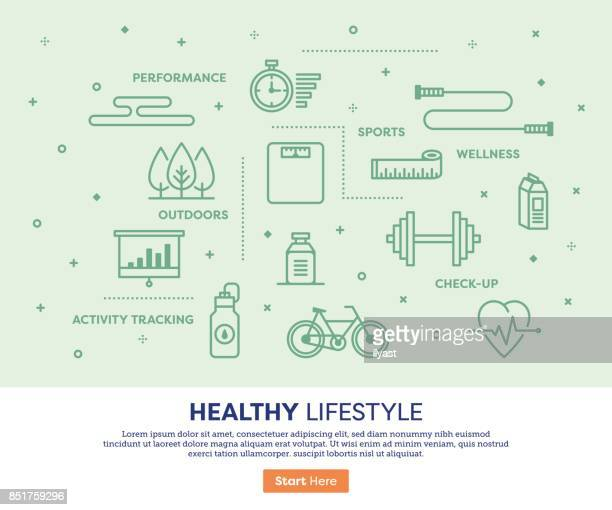 healthy lifestyle concept - dieting stock illustrations, clip art, cartoons, & icons
