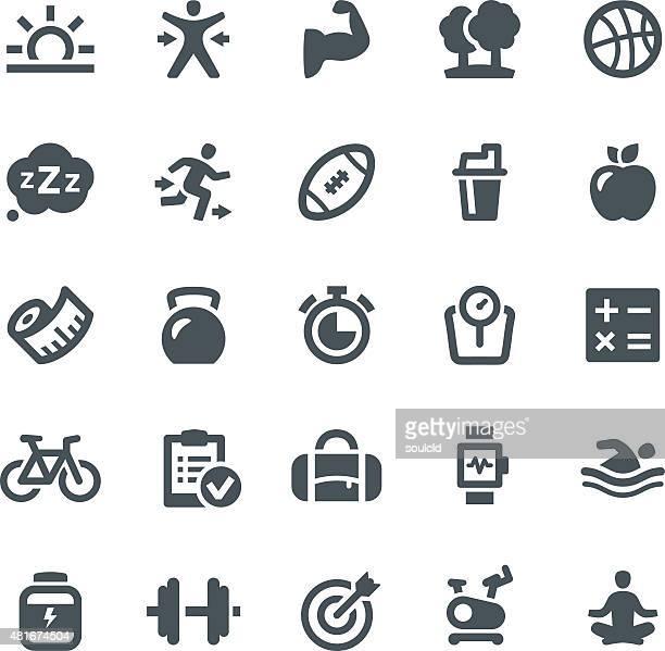 Gesunder Lifestyle Symbole