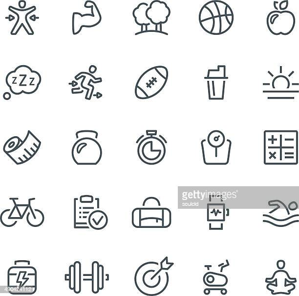 healthy lifestyle icons - body conscious stock illustrations, clip art, cartoons, & icons