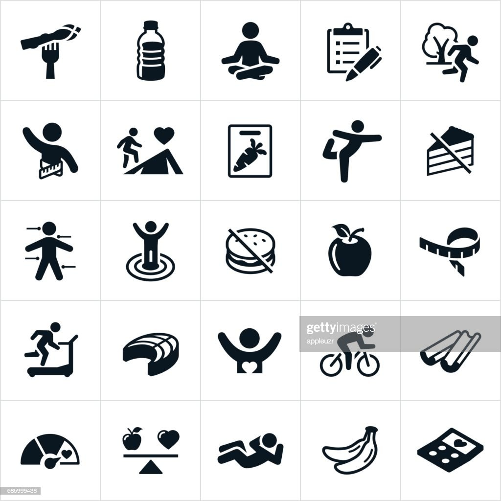 Healthy Lifestyle Icons : stock illustration