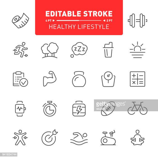 healthy lifestyle icons - obesity icon stock illustrations