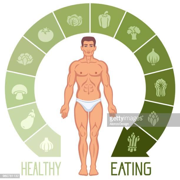 healthy lifestyle infographics - marrom stock illustrations