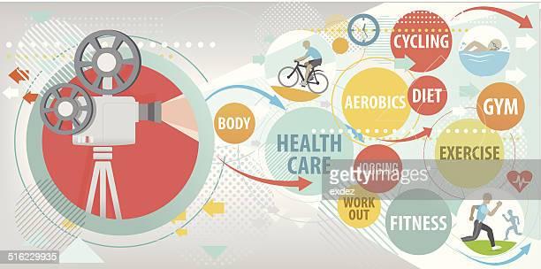 ilustrações, clipart, desenhos animados e ícones de estilo de vida saudável - cardiovascular exercise
