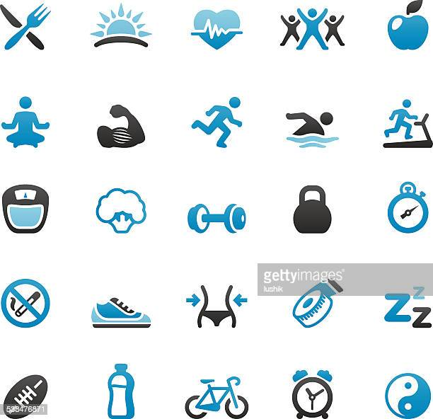healthy lifestyle - religious icon stock illustrations, clip art, cartoons, & icons