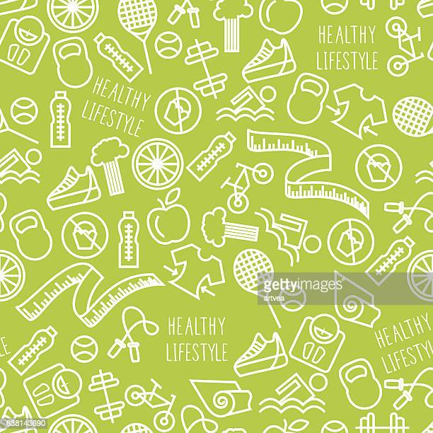 healthy lifestyle - slim stock illustrations, clip art, cartoons, & icons