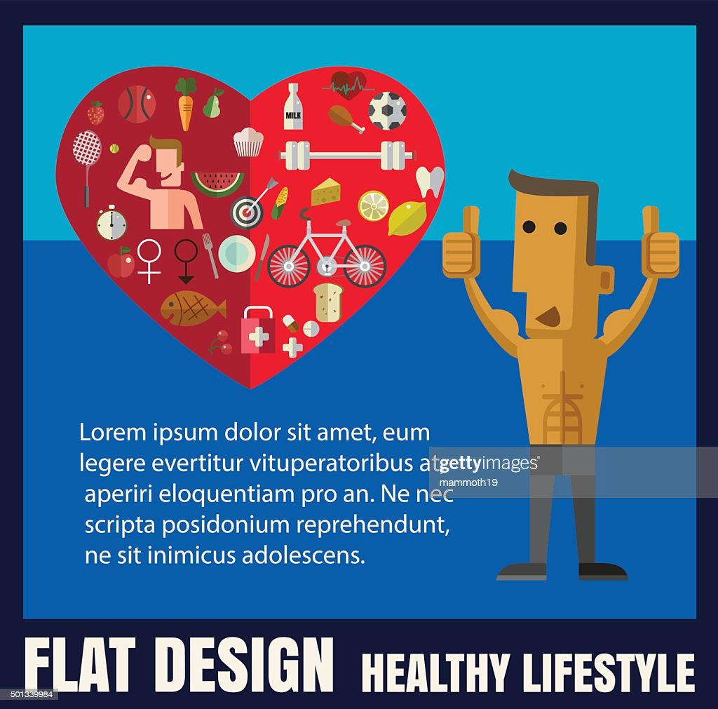 healthy lifestyle,food ,Vector flat icon illustrations format ep