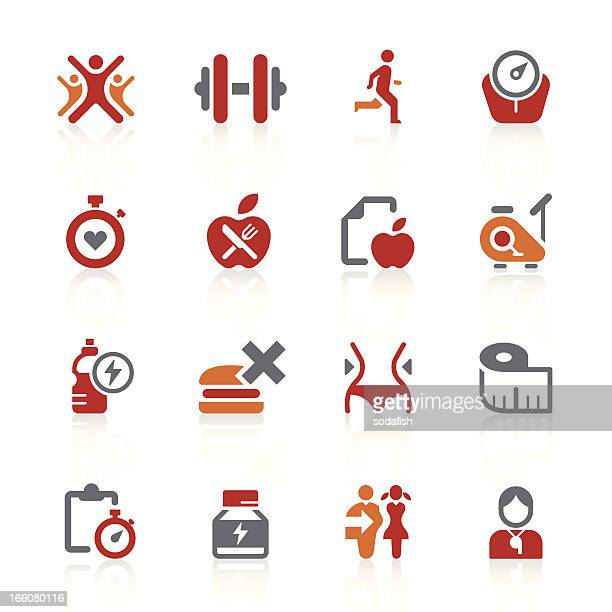 healthy living icons | alto series - body conscious stock illustrations, clip art, cartoons, & icons