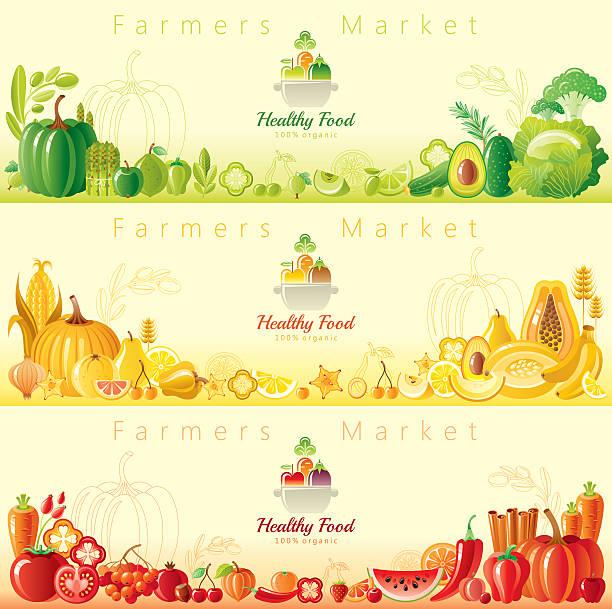 Healthy Organic Food Banners Wall Art
