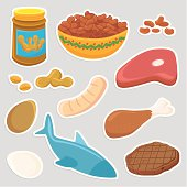 Healthy Protein Meat food icons