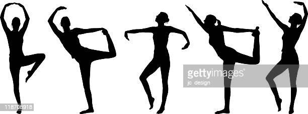 healthy silhouettes - concepts & topics stock illustrations