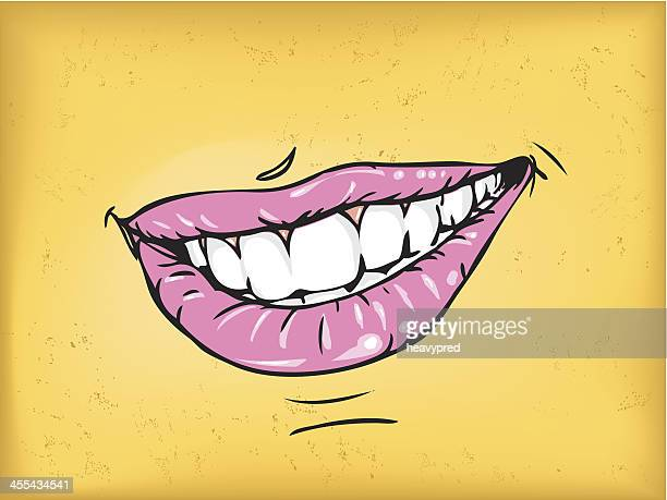 healthy smile - collagen stock illustrations