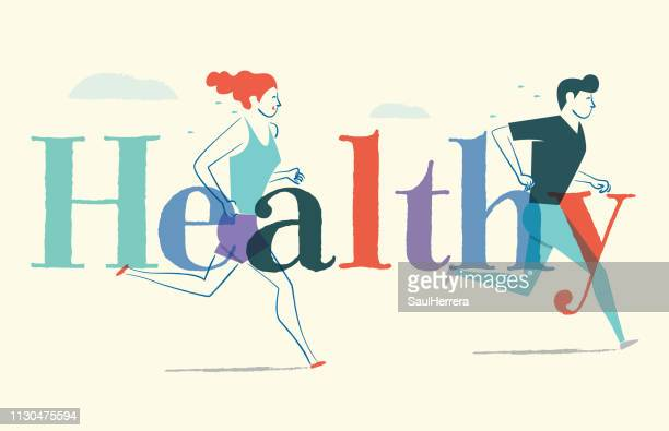 healthy - aire libre stock illustrations, clip art, cartoons, & icons