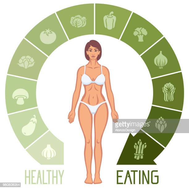 healthy woman - marrom stock illustrations