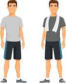 healthy young man in sportswear