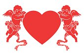 heart and cupids