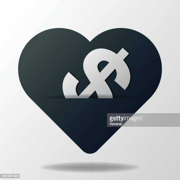 heart and money icon - {{relatedsearchurl('county fair')}} stock illustrations, clip art, cartoons, & icons