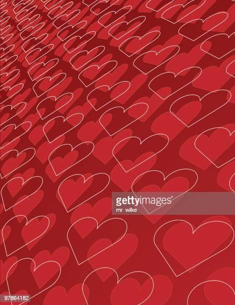 heart background - animal heart stock illustrations, clip art, cartoons, & icons