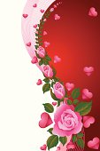 Heart Background With Rose