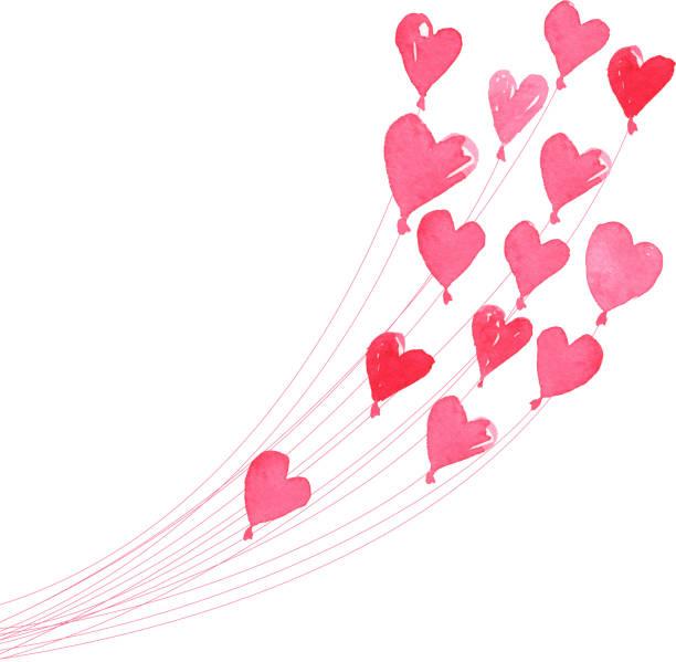 heart balloons - heart shape stock illustrations