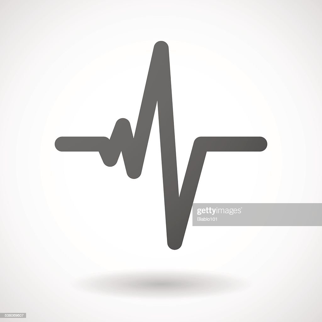 heart beat  icon on white background