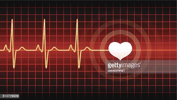 heart beat - listening to heartbeat stock illustrations, clip art, cartoons, & icons