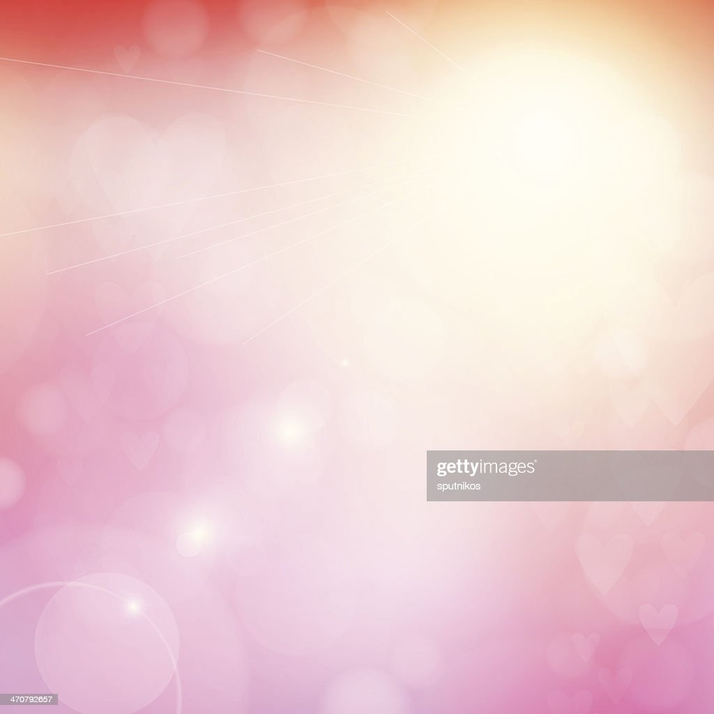 Heart blur background with bokeh lights