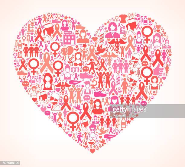 heart breast cancer awareness royalty free vector art - political rally stock illustrations, clip art, cartoons, & icons