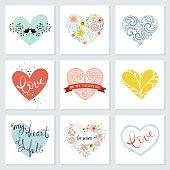 Heart Cards Set