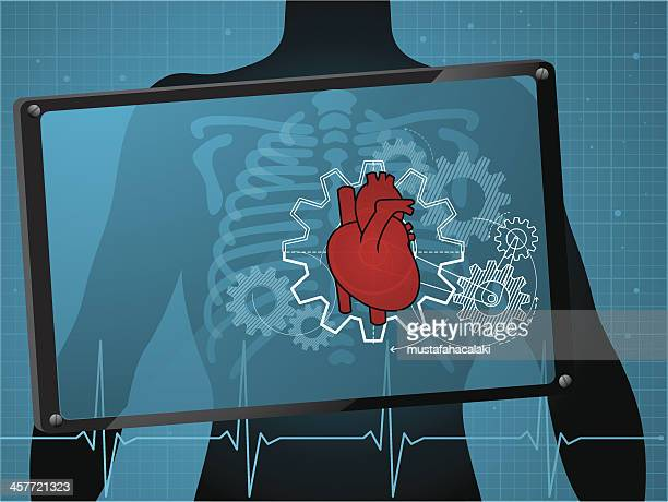 heart care - chest torso stock illustrations, clip art, cartoons, & icons